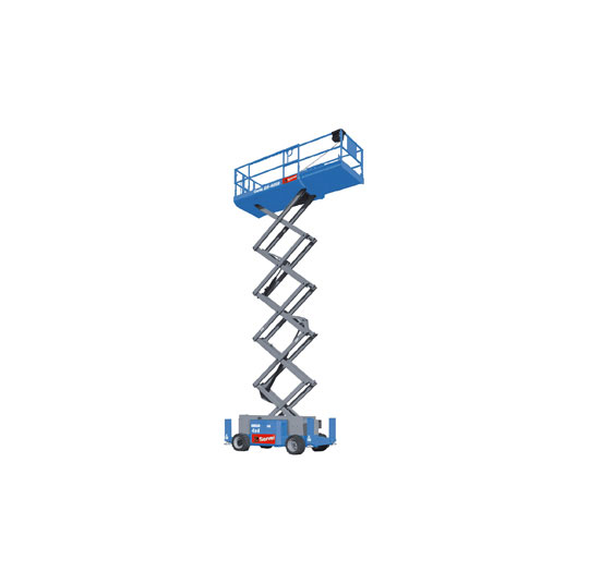 Diesel-powered scissor work platform