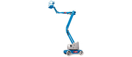 Electric work platform with articulated boom